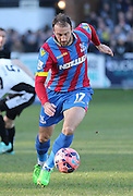 Glenn Murray of Crystal Palace on the ball during the The FA Cup Third Round match between Dover Athletic and Crystal Palace at Crabble Athletic Ground, Dover, United Kingdom on 4 January 2015. Photo by Phil Duncan.