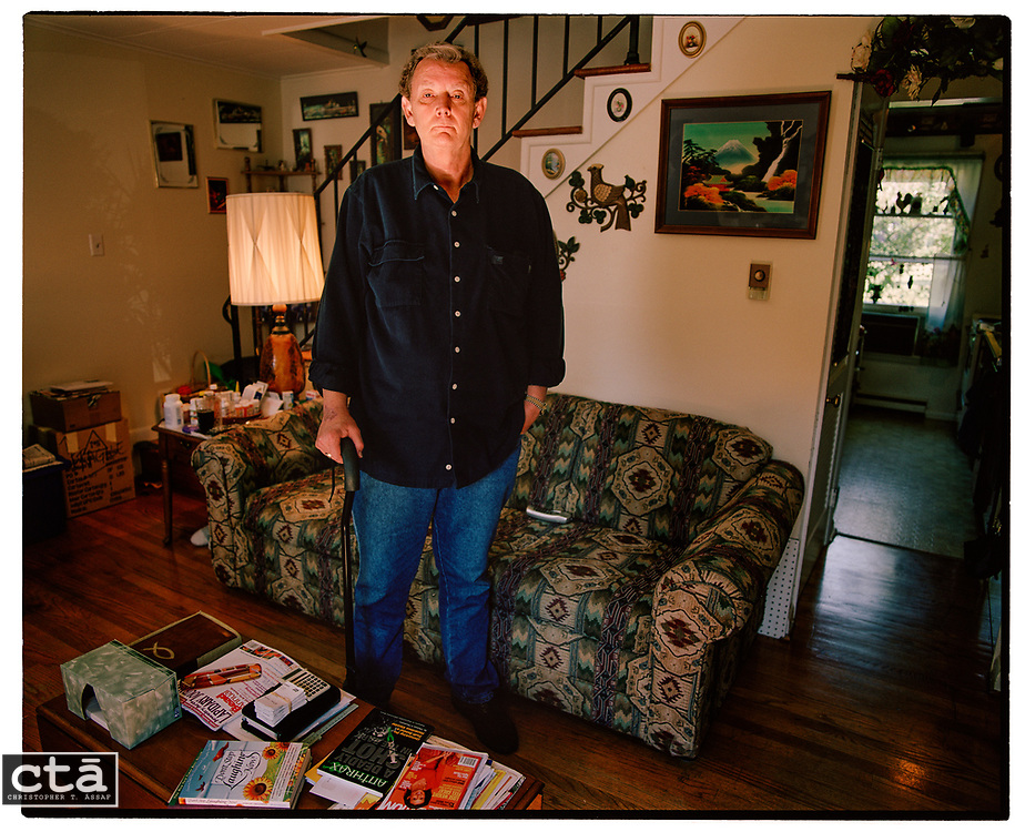 """After surviving the anthrax and pneumonia, David Hose says, """"I'm on three heart medications. I have asthma. I'm extremely weak."""" Unable to climb the stairs, he spent much of his early recovery on the couch of his Winchester, Va., home. Two years after the anthrax mailings halted delivery and killed several people, the former postal manager spends much of his time taking numerous medications and battling the government and his insurance agency for coverage."""