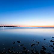 Today's  clam sunrise  at Narragansett Town Beach, Narragansett, RI,  April  4, 2013.