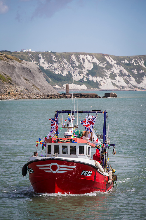 The 2016 Folkestone Trawler race. Folkestone Harbour, Kent.