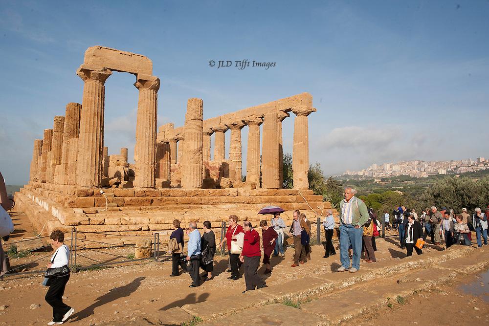 (Multiple values) Agrigento : valloe dei Templi. Temple of Hera, 5th century BC