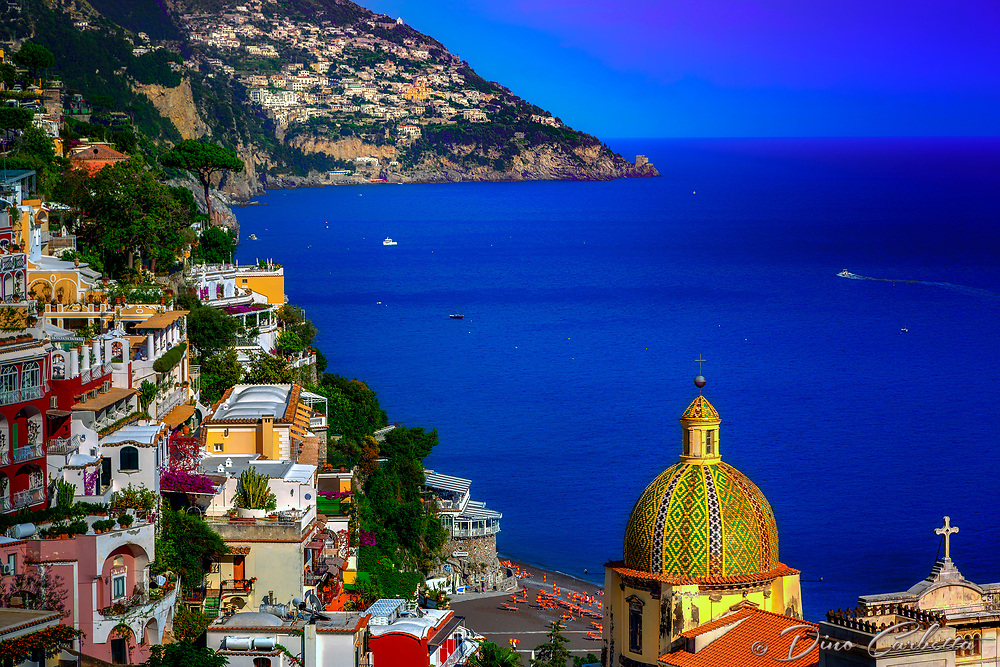 """Cross and Dome of Santa Maria Assunta in Positano""…<br />