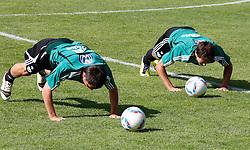19.07.2011, Bad Kleinkirchheim, AUT, Fussball Trainingscamp VFL Wolfsburg, im Bild Marcel Schaefer und Serdjan Lakic , EXPA Pictures © 2011, PhotoCredit: EXPA/Oskar Hoeher