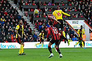 Abdoulaye Doucoure (16) of Watford heads the ball towards the goal during the Premier League match between Bournemouth and Watford at the Vitality Stadium, Bournemouth, England on 12 January 2020.