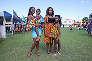Juiliet Koroma, Adena 3, Nancy Beckley and Chara 7 from Sierra Leone at Africana Festival March 2017