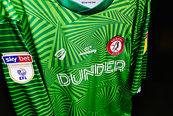 125th Anniversary goalkeeper shirt hangs in the Bristol City dressing room - Rogan/JMP - 07/03/2020 - Ashton Gate Stadium - Bristol, England - Bristol City v Fulham - Sky Bet Championship.