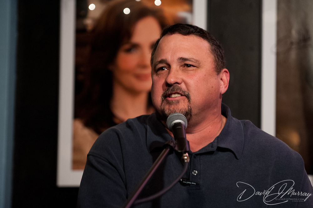 Warren Evans performing at The Bluebird Cafe in Nashville, TN, Jan. 29, 2012