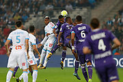 Clinton Njie during the French Championship Ligue 1 football match between Olympique de Marseille and Toulouse FC on September 24, 2017 at Orange Velodrome stadium in Marseille, France - Photo Philippe Laurenson / ProSportsImages / DPPI