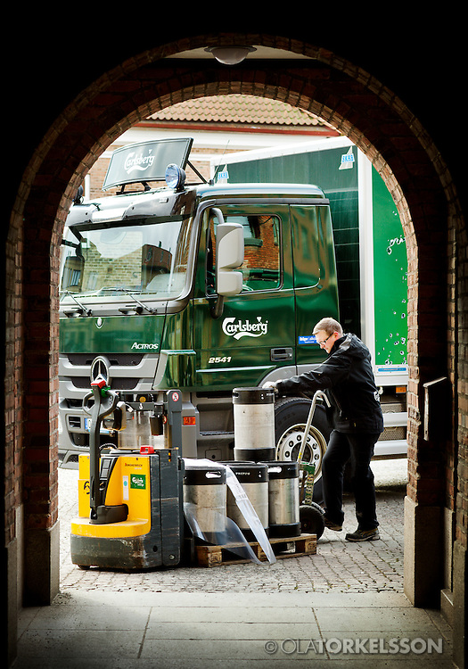 Pictures for Mercedes Benz trucks and their client Carlsberg.<br /> Photo Ola Torkelsson &copy;