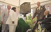 16485  Berry Alumni Gate Historical Marker Dedication...  Dr. Robert Glidden, Dr. Patricia Ackerman, Dr. Frank W. Hale Jr., Arthur Templeton,
