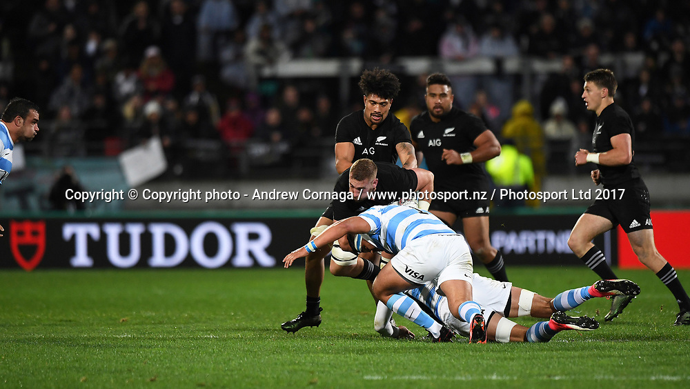 Luke Romano.<br /> Rugby Championship test match rugby union. New Zealand All Blacks v Argentina Los Pumas, Yarrow Stadium, New Plymouth. New Zealand. Saturday 9 September 2017. &copy; Copyright photo: Andrew Cornaga / www.Photosport.nz
