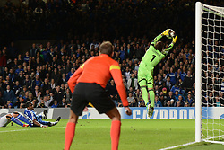 LONDON, ENGLAND - September 18: Basel's Yann Sommer makes a save during the UEFA Champions League Group E match between Chelsea from England and Basel from Switzerland played at Stamford Bridge, on September 18, 2013 in London, England. (Photo by Mitchell Gunn/ESPA)
