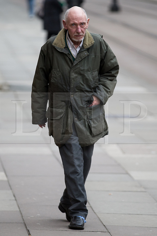 © Licensed to London News Pictures . 17/04/2014 . Manchester , UK . WILLIAM HARPER arrives for a plea and case management hearing at Minshull Street Crown Court , Manchester , this morning (17th April 2014) . He is charged alongside Ray Teret and Alan Ledger with historic sex offences . Photo credit : Joel Goodman/LNP