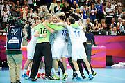 DESCRIZIONE : Handball Jeux Olympiques Londres Quart de Finale<br /> GIOCATORE : France FRA<br /> SQUADRA : France Homme<br /> EVENTO : FRANCE Handball Jeux Olympiques<br /> GARA : France Espagne<br /> DATA : 08 08 2012<br /> CATEGORIA : handball Jeux Olympiques<br /> SPORT : HANDBALL<br /> AUTORE : JF Molliere <br /> Galleria : France JEUX OLYMPIQUES 2012 Action<br /> Fotonotizia : France Handball Homme Jeux Olympiques Londres Quart de Finale Basketball Arena<br /> Predefinita :