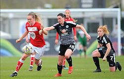 Lucy Graham of Bristol City under pressure from Jade Moore of Reading Women- Mandatory by-line: Nizaam Jones/JMP- 31/03/2019 - FOOTBALL - Stoke Gifford Stadium - Bristol, England - Bristol City Women v Reading Women - FA Women's Super League 1