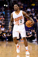 Jan 30, 2017; Phoenix, AZ, USA; Phoenix Suns guard Eric Bledsoe (2) dribbles the ball up the court in the second half of the NBA game against the Memphis Grizzlies at Talking Stick Resort Arena. The Memphis Grizzlies won 115-96. Mandatory Credit: Jennifer Stewart-USA TODAY Sports