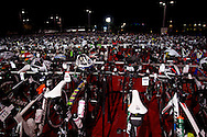 Frankston Transition. 2012 Ironman Melbourne. Asia-Pacific Championship. 25/03/2012. Photo By Lucas Wroe.