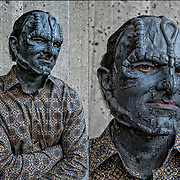 Cosplay attendee in his costume, as Elim Garak<br />