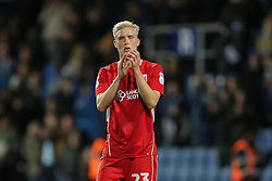 Hordur Magnusson of Bristol City looks dejected after they lose 1-0 - Rogan Thomson/JMP - 18/10/2016 - FOOTBALL - Loftus Road Stadium - London, England - Queens Park Rangers v Bristol City - Sky Bet EFL Championship.