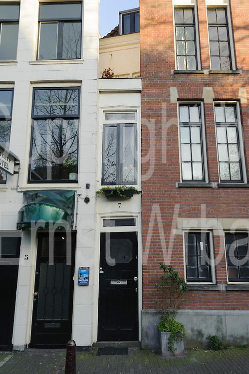 Singel 7 schmalstes Haus,  Singel, Amsterdam, Holland, Niederlande