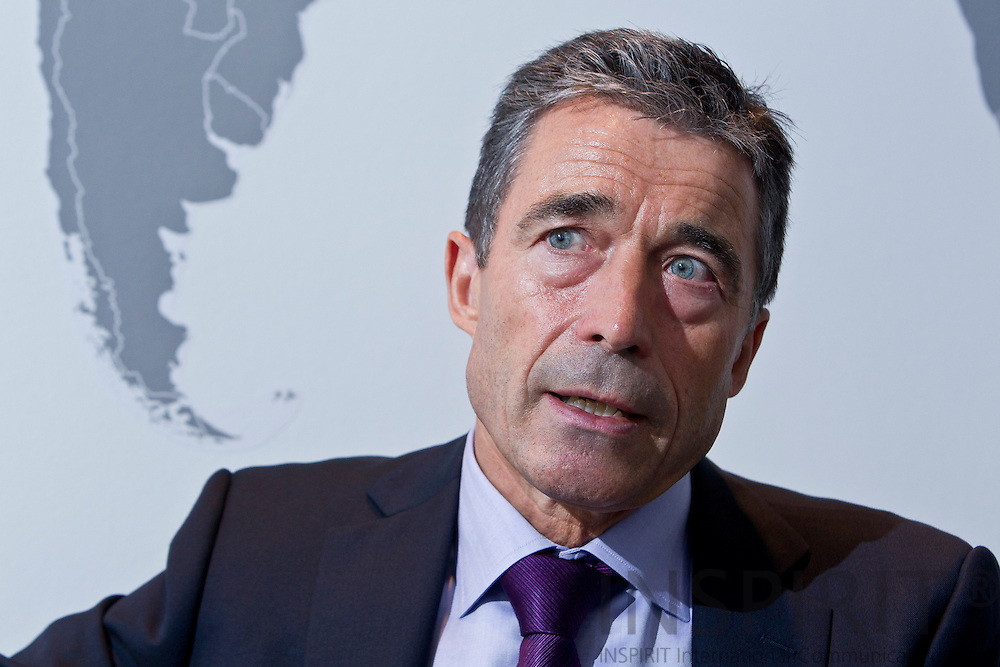 Anders Fogh Rasmussen, Secretary General for NATO, during an interview at his private office at the NATO HQ in Brussels 25 August 2011. PHOTO: ERIK LUNTANG / INSPIRIT Photo.