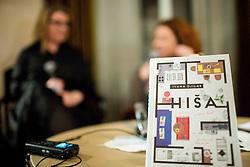 Ivana Djilas, Jedrt Jež Furlan in Barbara Cerar na predstavitvi knjige Hiša // presentation of Ivana Djilas's new book named Hiša (House), on February 15, 2017 in Ljubljana, Slovenia. Photo by Vid Ponikvar / Sportida
