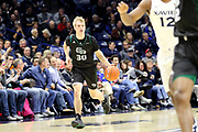 Green Bay's Hunter Crist (30) brings the ball up court during an NCAA college basketball game against Xavier, Wednesday, Dec. 4, 2019, in Cincinnati. Xavier defeated Green Bay 84-71 (Jason Whitman/Image of Sport)