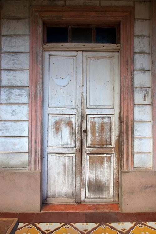 House door in Baracoa, Guantanamo, Cuba.