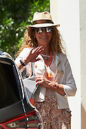 Princess Elena attended the 80th birthday party of Princess Pilar at his house in Calvia on July 30, 2016 in Mallorca, Spain