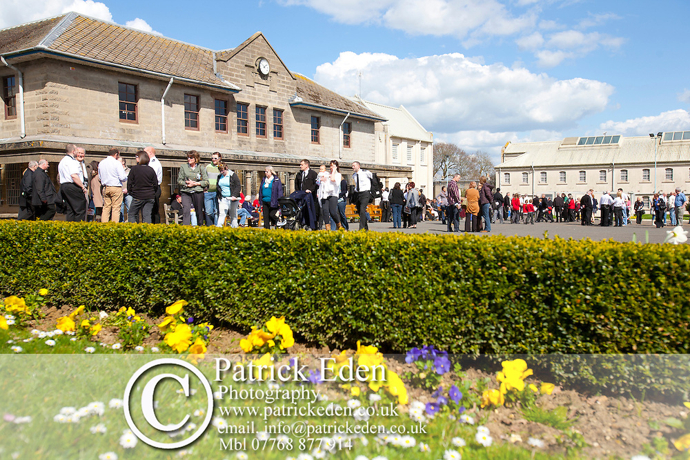 19th April 2013. The final ceremony and closing down of HMP Camp Hill, Newport, Isle of Wight. Members of staff anf family and friends came together this afternoon to celebrate their work at the Prison. At the end there was a final march of Prison Officers out of the main gate. Governor Bob Smith finally handed over the keys to a representative of The Ministry of Justaice. He then walked out of the main gate for the last time.