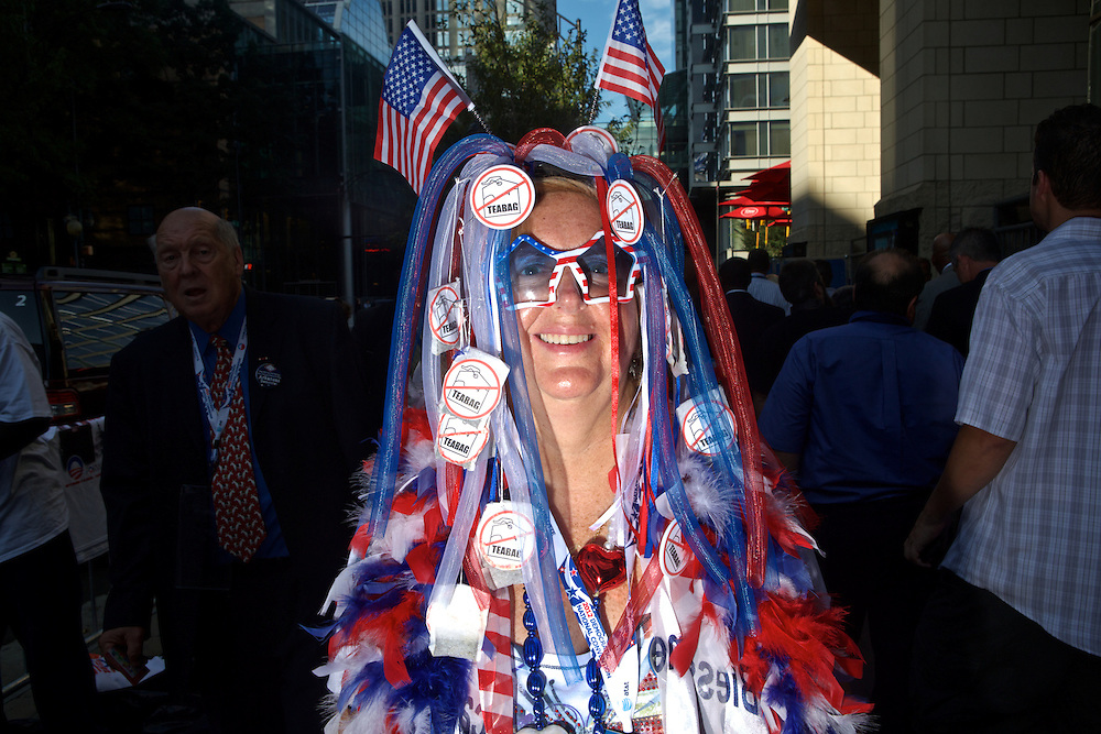 Audrey Blondin, a delegate from Litchfield, Conn., stands for portrait during the 2012 Democratic National Convention on Wednesday, September 5, 2012 in Charlotte, NC.