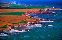 Aerial views, Northern coastline, Prince Edward Island, Canada