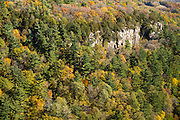 Aerial view of Gibraltar Rock State Natural Area, near Lodi, Wisconsin.