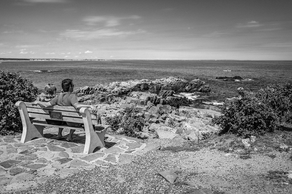 Relaxing On A Marginal Way Memorial Bench, Ogunquit - Maine, USA, 2016