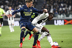 March 8, 2019 - Turin, Italy - Juventus midfielder Blaise Matuidi (14) fights for the ball during the Serie A football match n.27 JUVENTUS - UDINESE on 08/03/2019 at the Allianz Stadium in Turin, Italy. (Credit Image: © Matteo Bottanelli/NurPhoto via ZUMA Press)