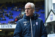 Ipswich Town manager Mick McCarthy during the EFL Sky Bet Championship match between Ipswich Town and Burton Albion at Portman Road, Ipswich, England on 10 February 2018. Picture by Richard Holmes.
