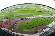 A general view of the racecourse and Knavesmire prior to the John Smiths Diamond Cup Meeting at York Racecourse, York, United Kingdom on 13 July 2019.