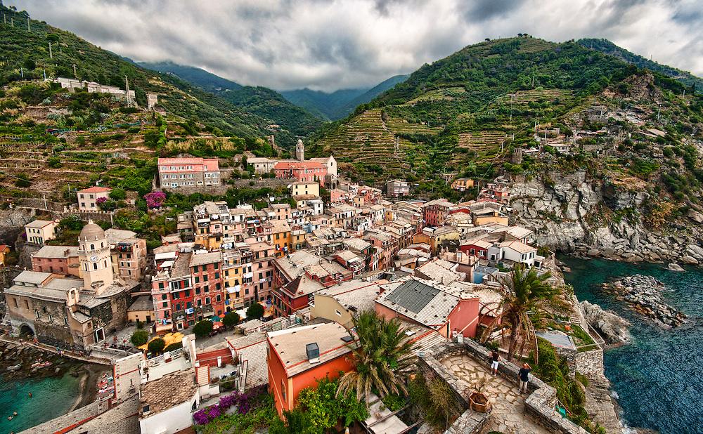 Cinque Terre, Italy. The five coastal towns of  Monterosso al Mare, Vernazza, Corniglia, Manarola, and Riomaggiore.