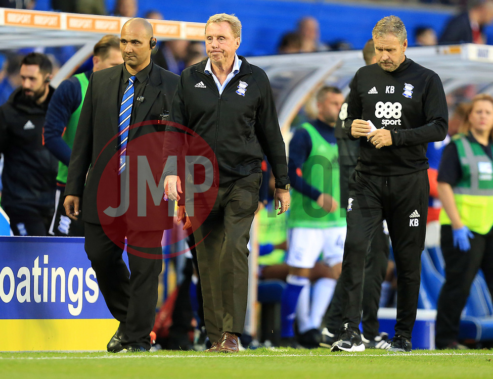 Birmingham City manager Harry Redknapp looks dejected - Mandatory by-line: Paul Roberts/JMP - 15/08/2017 - FOOTBALL - St Andrew's Stadium - Birmingham, England - Birmingham City v Bolton Wanderers - Sky Bet Championship