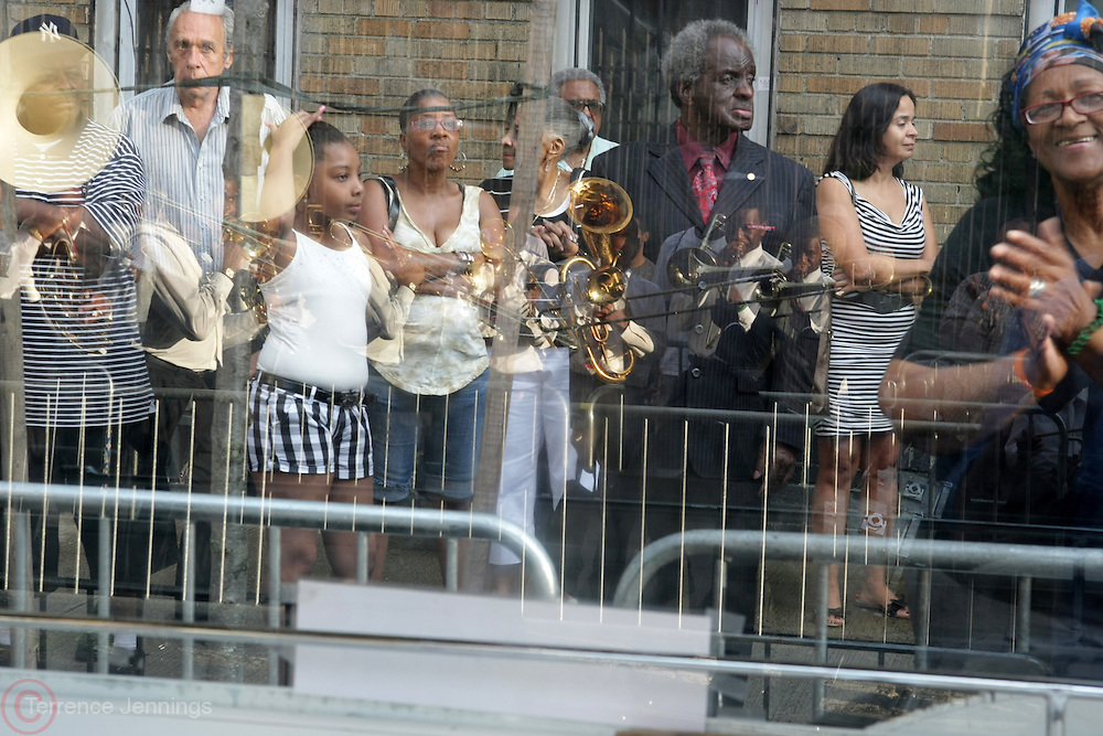 July 24, 2012-New York, NY:  Atmosphere at the official Slyvia Woods Harlem Community memorial and send off through the streets of Harlem. Sylvia Woods was an American restaurateur who co-founded the landmark restaurant Sylvia's in Harlem on Lenox Avenue, New York City with her husband, Herbert Woods, in 1962 (Photo by Terrence Jennings)