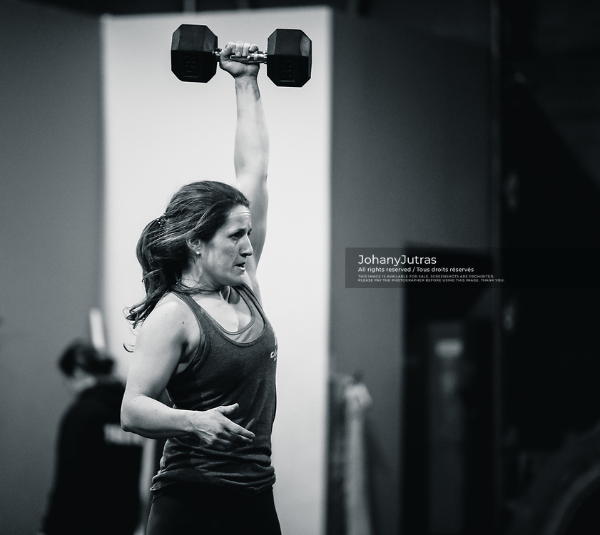 Marie-Frederique Carter. CrossFit Opens 18.3 at CrossFit ADM gym in Longueuil, QC, Saturday, March 10, 2018. (Photo: Johany Jutras)