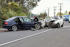 Auckland-Serious head on crash, Huapai