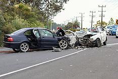 Auckland-Serious head on crash, Huapai