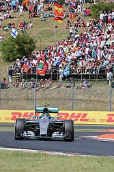 26.07.2015, Hungaroring, Budapest, HUN, FIA, Formel 1, Grand Prix von Ungarn, das Rennen, im Bild Nico Rosberg (Mercedes AMG Petronas Formula One Team) // during the race of the Hungarian Formula One Grand Prix at the Hungaroring in Budapest, Hungary on 2015/07/26. EXPA Pictures © 2015, PhotoCredit: EXPA/ Eibner-Pressefoto/ Bermel<br /> <br /> *****ATTENTION - OUT of GER*****