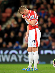 Ryan Shawcross of Stoke City looks dejected - Mandatory by-line: Matt McNulty/JMP - 18/04/2016 - FOOTBALL - Britannia Stadium - Stoke, England - Stoke City v Tottenham Hotspur - Barclays Premier League
