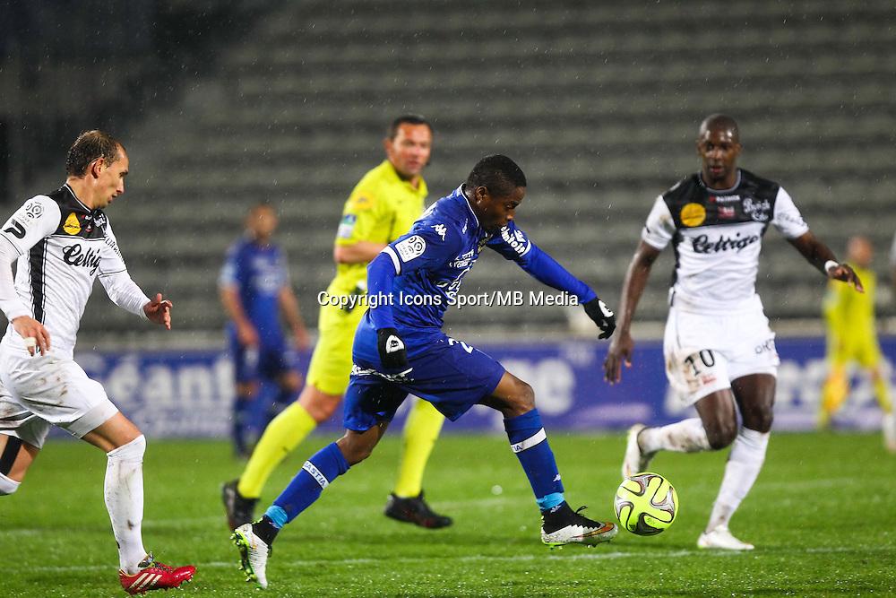 Francois Kamano - 21.03.2015 - Bastia / Guingamp - 30eme journee de Ligue 1 <br />Photo : Andre Delon / Icon Sport