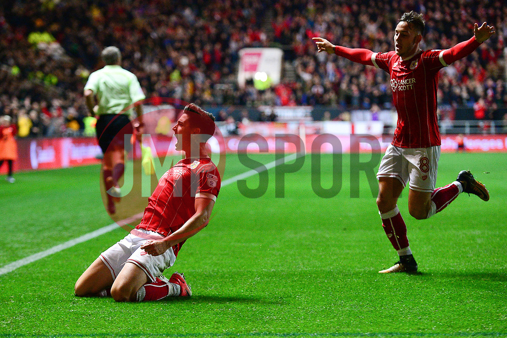 Callum O'Dowda of Bristol City celebrates scoring a goal to make it 4-1 - Mandatory by-line: Dougie Allward/JMP - 24/10/2017 - FOOTBALL - Ashton Gate Stadium - Bristol, England - Bristol City v Crystal Palace - Carabao Cup