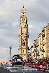 May 18, 2018 - Matosinhos, Matosinhos, Portugal - ESAPEKKA LAPPI (FIN) and JANNE FERM (FIN) in TOYOTA YARIS WRC of TOYOTA GAZOO RACING WRT in action during the SS8 Porto Street Stage 1 of WRC Vodafone Rally de Portugal 2018, at Matosinhos in Portugal on May 18, 2018. (Credit Image: © Dpi/NurPhoto via ZUMA Press)