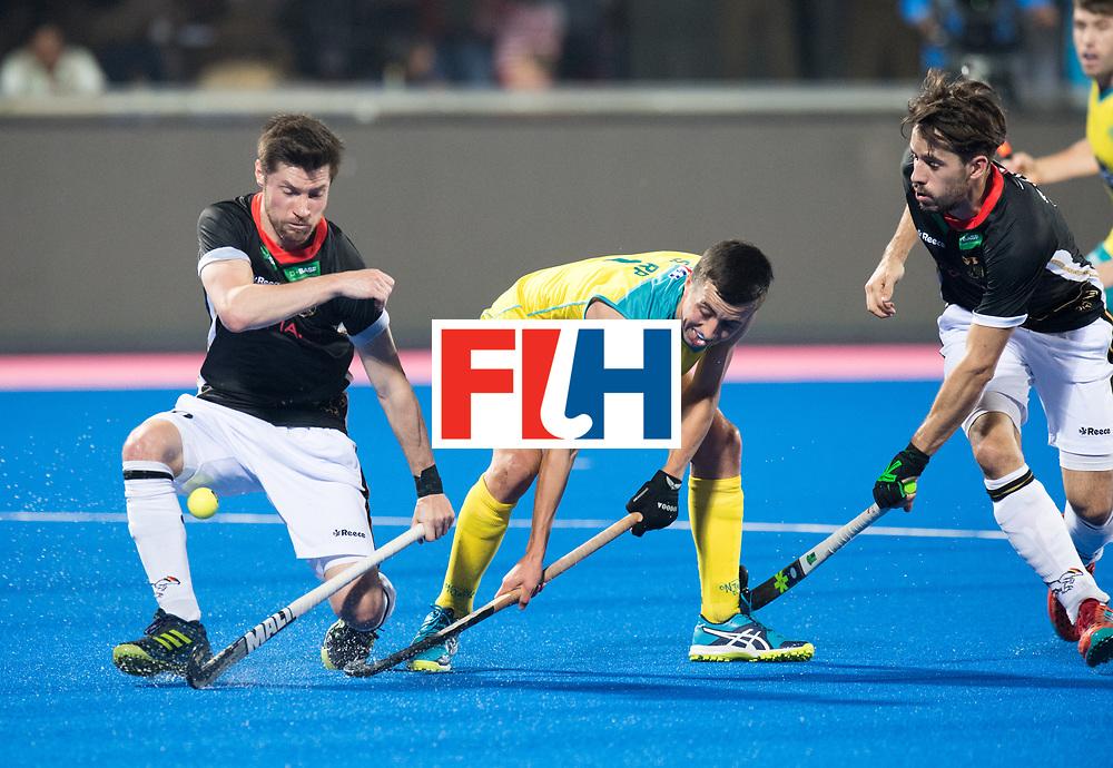 Odisha Men's Hockey World League Final Bhubaneswar 2017<br /> Match id:05<br /> 05 GER v AUS (Pool B)<br /> Foto: Dan Nguyen (Ger) try to defend Lachlan Sharp (Aus) <br /> WORLDSPORTPICS COPYRIGHT FRANK UIJLENBROEK