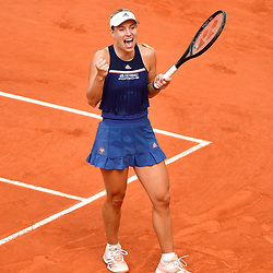Angelique Kerber of Germany celebrates winning during Day 9 of the French Open 2018 on June 3, 2018 in Paris, France. (Photo by Dave Winter/Icon Sport)